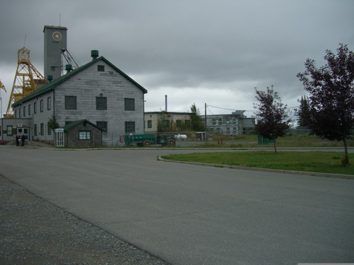 outside of the mine