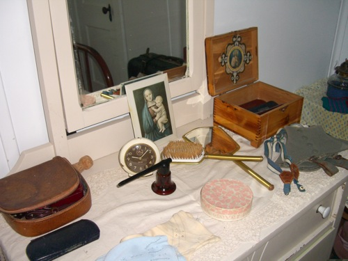 dresser in the miner's house
