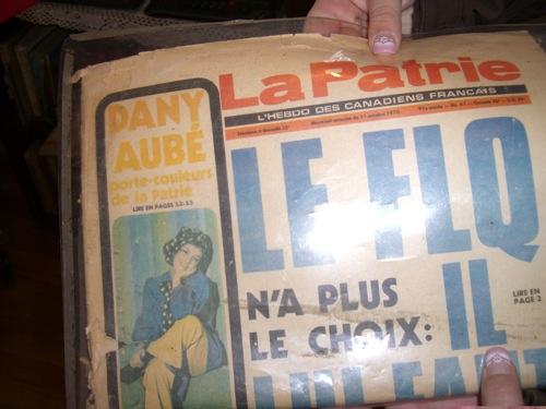 newspaper about the FLQ crisis