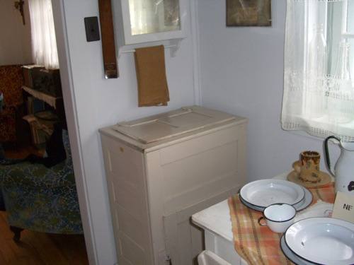 ice box in the miner's house