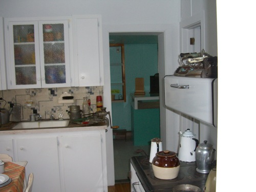 kitchen in the miner's house