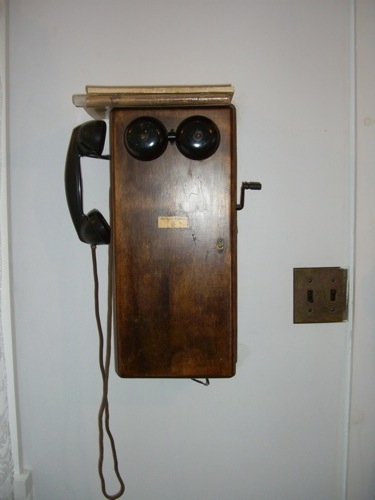 phone in a miner's house