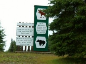 entering the Arctic watershed