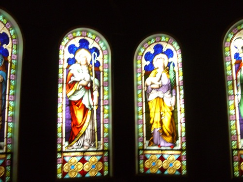 stained glass windows at The Exploration Place