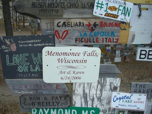 Menomonee Falls was one of my many stops on the Great Road Trip of '05