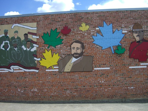 George Mercer Dawson, from one of Dawson Creek's many murals