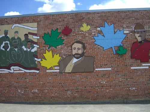 George Mercer Dawson, from one of Dawson Creek's many murals