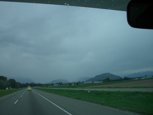 heading EAST on the Transcanada towards Chilliwack