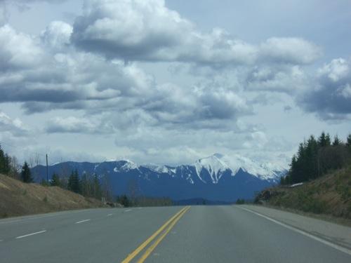 Yellowhead Highway heading east towards McBride