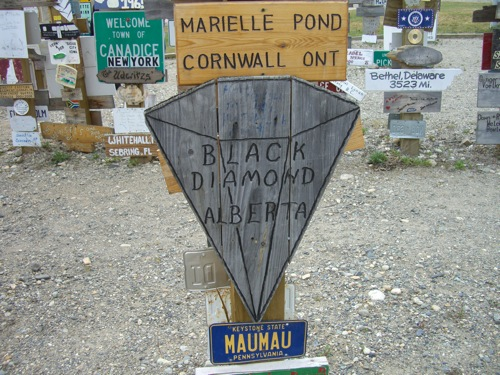 I stopped in Black Diamond when I was touring Kanaskis Country in September '08