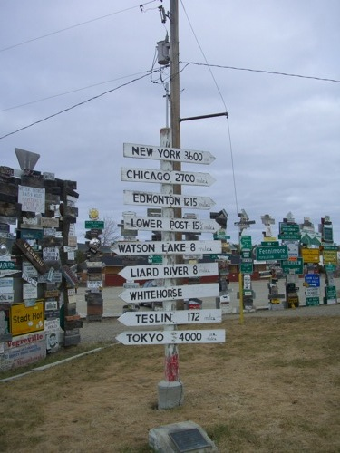 The original sign post (reconstructed)