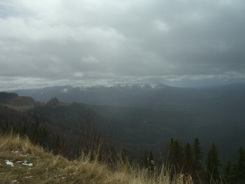 view from Steamboat Mountain rest area