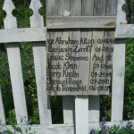 The names of the Jews buried in the Jewish cemetery