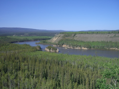 Five Finger Rapids as seen from the observation deck off the Klondike Highway