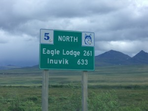 Never thought I would be so close to Inuvik!