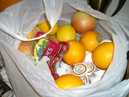 Other goodies: butter, oranges, radishes, and lemons