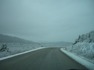 Don't be fooled by the snow; the road was in great shape and it was a pleasure to drive.
