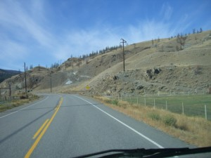 beginning (or end) of the Sea to Sky highway near Cache Creek