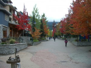 Whistler (the red foliage was a nice treat, something we don't see much out west)