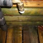teflon wrapped around the water pressure regulator threads