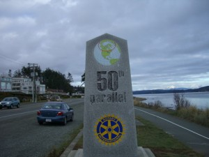 Campbell River lies on the 50th parallel