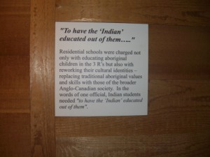 Another shameful incident in Canadian history is that of the residential schools for Native children