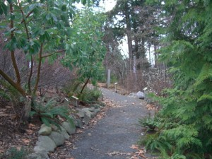the grounds are lovely and feature a native plant garden
