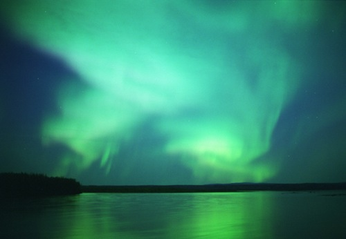 stock photo of the northern lights that quite accurate represents what I saw that night