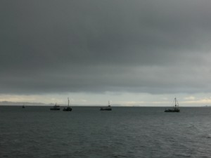 trawlers off of Baynes Sound Rest Area