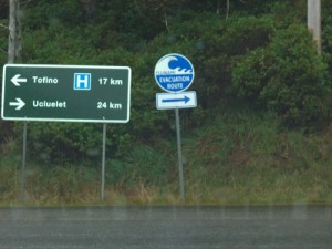 I couldn't get enough of the Tsunami signs :)