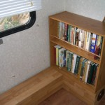The bookcase is SO much more accessible now!