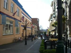 a street near downtown Victoria