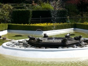 another frog fountain, this time at the star pond