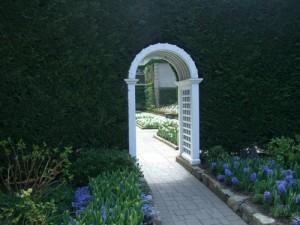 entrance to the Italian garden