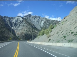 entering Ashcroft--back to desert after a winter in the rain forest!