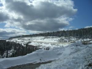 lots of snow at Summit Lake!