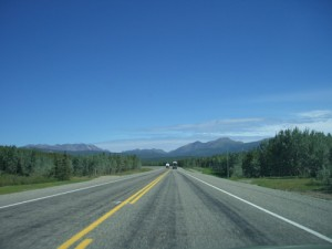 pushing west on the Alaska highway
