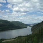 looking down the Yukon River towards Alaska