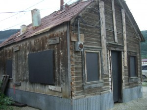 closeup of a crib (original 1898 building, moved to its current location)