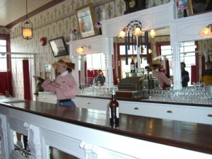 inside the Red Feather Saloon