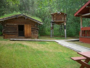 the building on stilts is a bear-proof food cache
