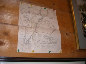 map of the routes to the gold fields