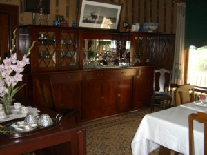 sideboard in the dining room