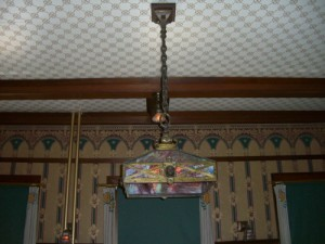 lamp in the dining room