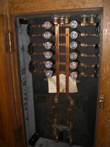 there are several fuse panels like these throughout the house