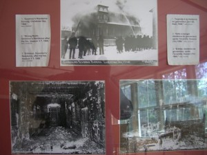 pictures of a fire and water damage that gutted the house in the early 1900's