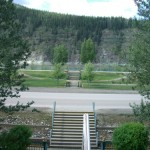 view of the Yukon River from the upstairs porch