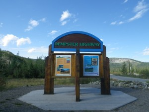 beginning of the Dempster highway