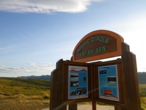 30 minutes from Eagle Plains, I crossed the fabled Arctic Circle