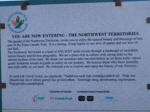 entering the Northwest Territories!!!